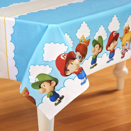 Super Mario Brothers 'Babies' Plastic Table Cover (1ct)