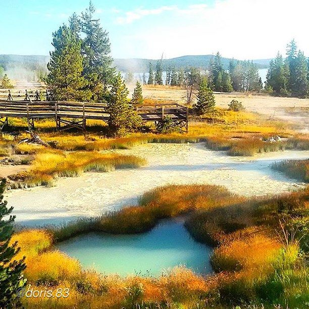 West Thumb Geyser Basin at Yellowstone. Photo courtesy of @Doris.83. #fodorsonthego