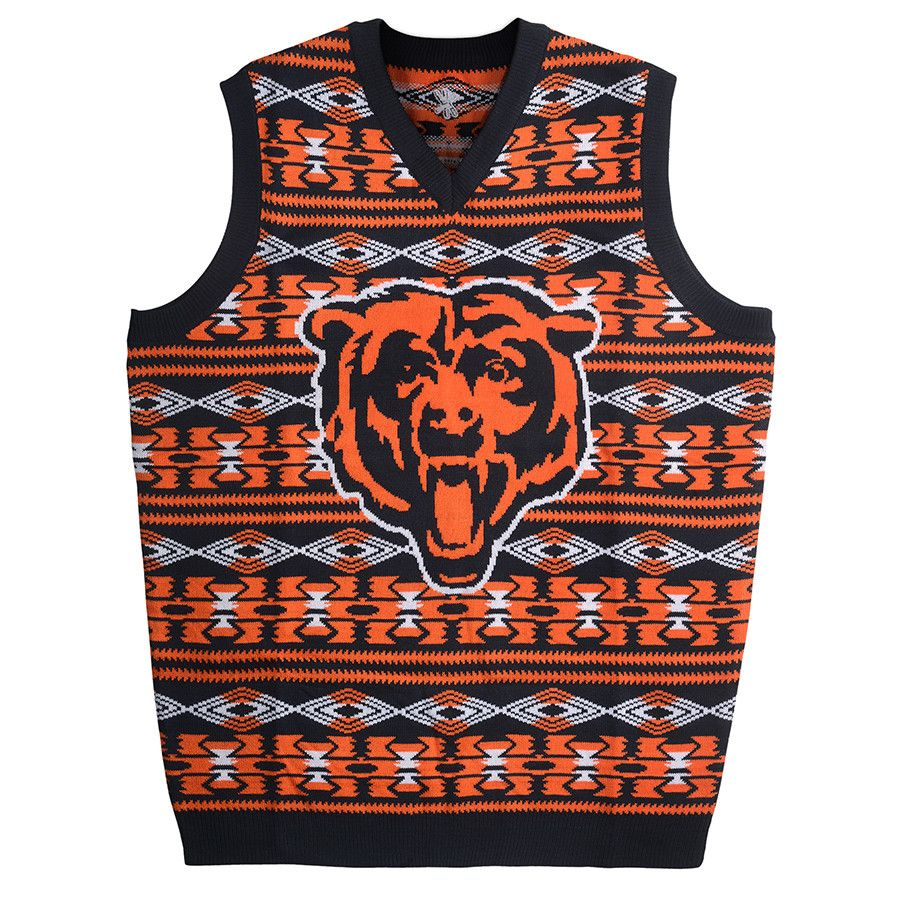 Get this Chicago Bears Word Mark Ugly Sweater Vest at ...