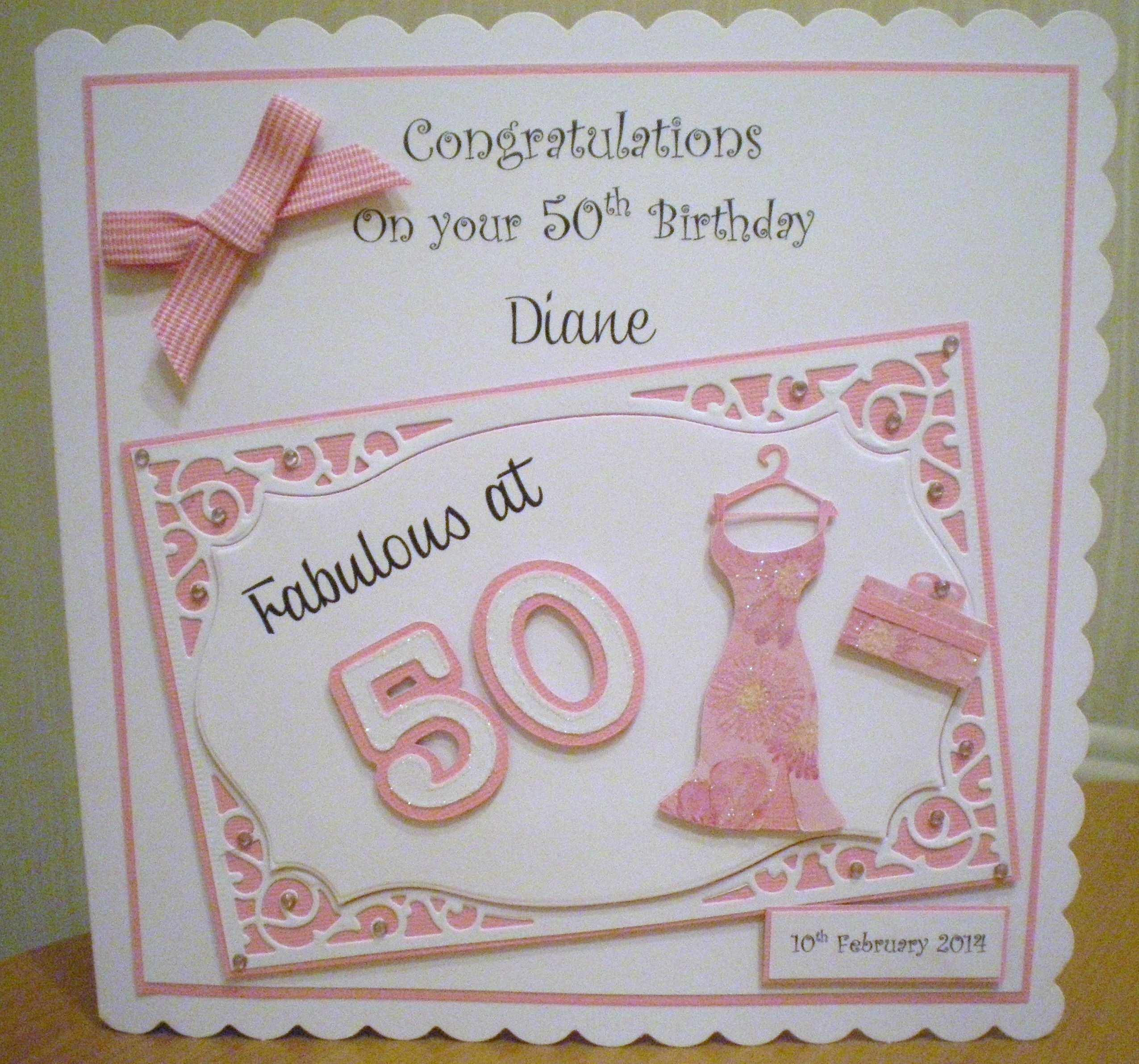 50th Birthday Using Cricut And Spellbinders Special Birthday Cards 50th Birthday Cards Birthday Cards