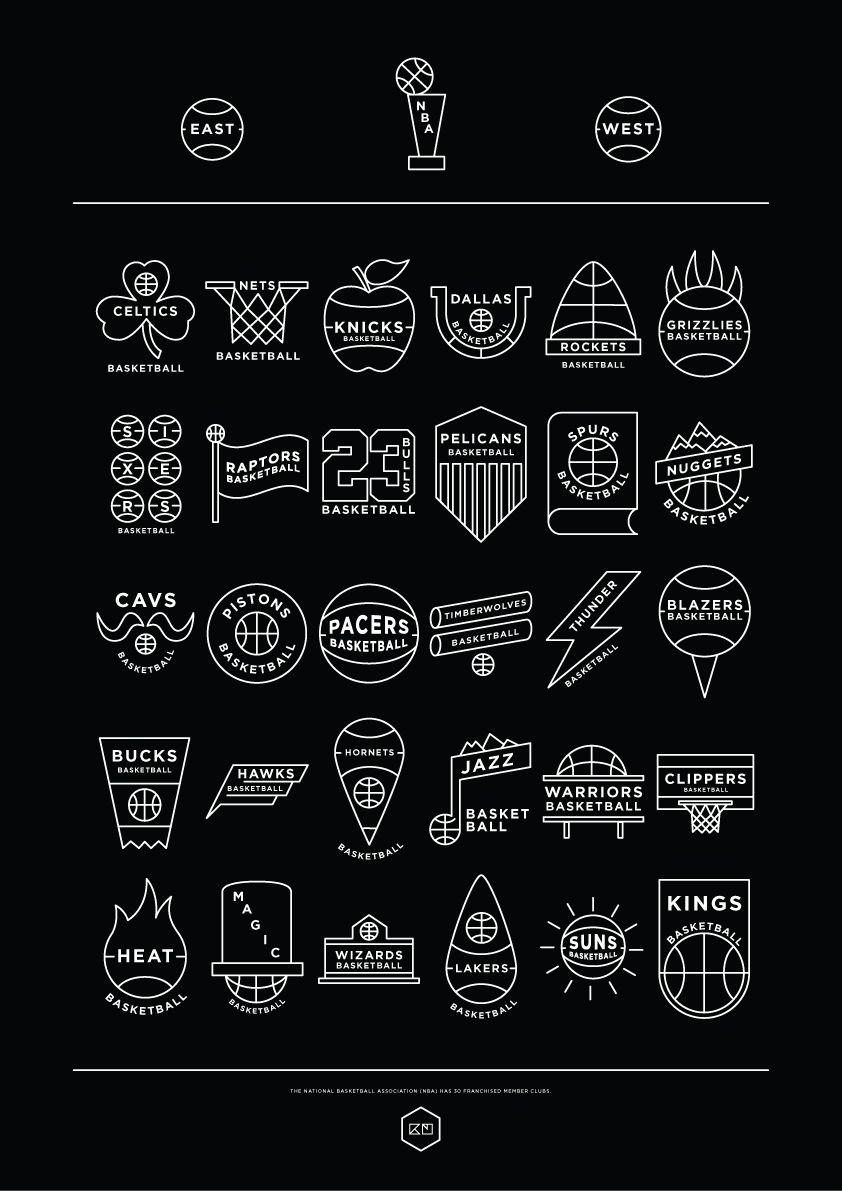 NBA logos simplified | vitor | Pinterest