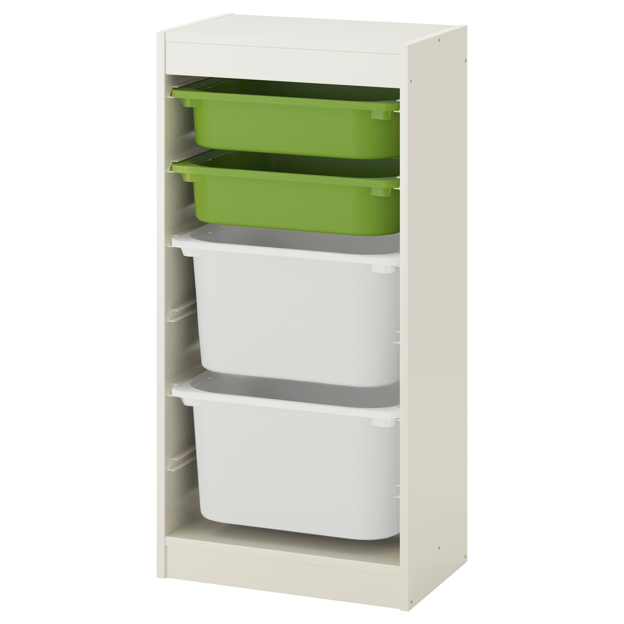 TROFAST Storage Combination With Boxes White, Green