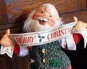 """Annalee 18"""" Santa Claus Doll 1992 Merry Christmas Mint with Tag"""