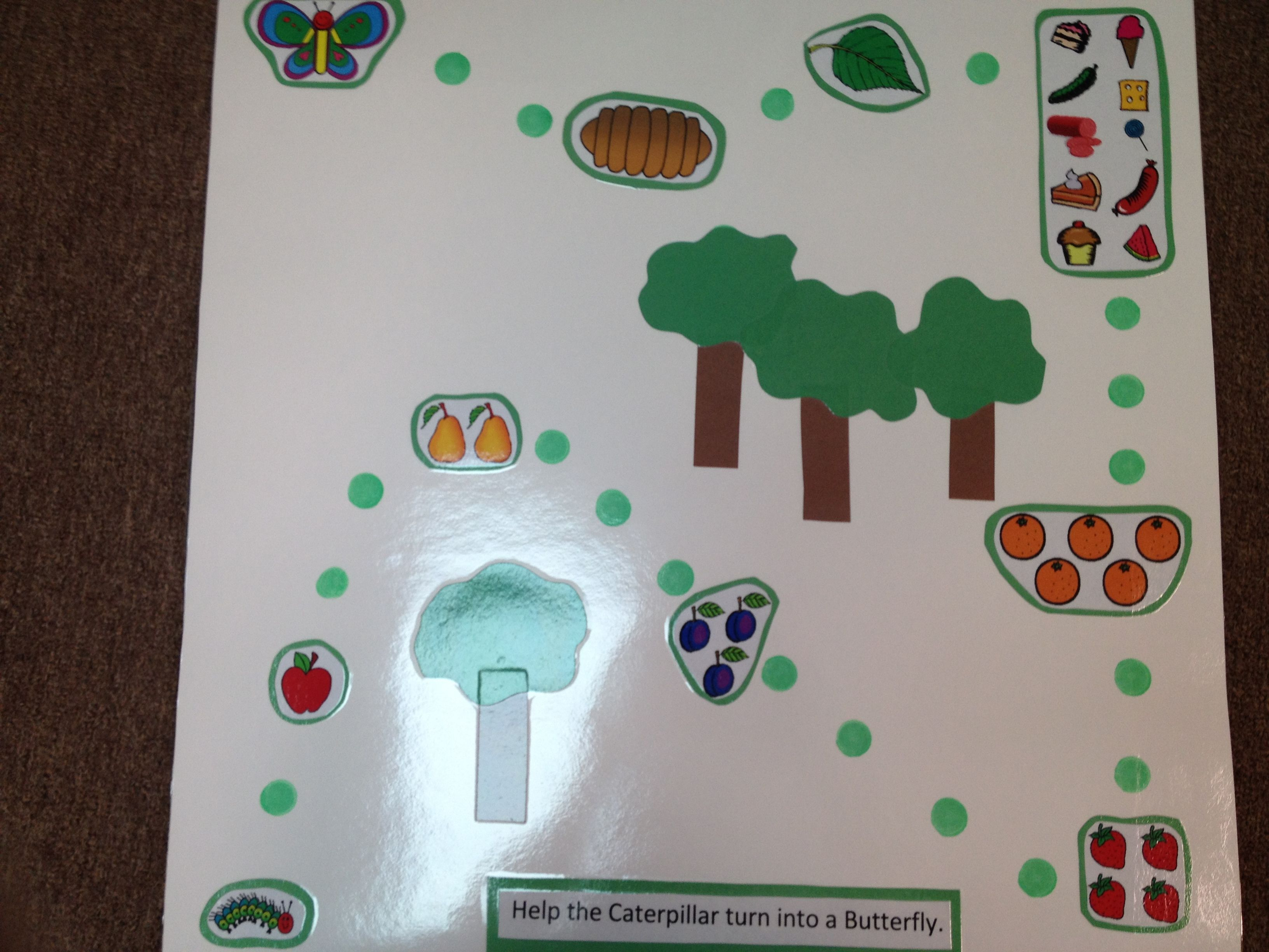 Math The Very Hungry Caterpillar Long Path Game Preschool