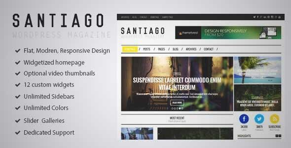 Download and review of Santiago - Responsive WordPress Magazine ...