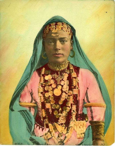 An old photo of a North African woman