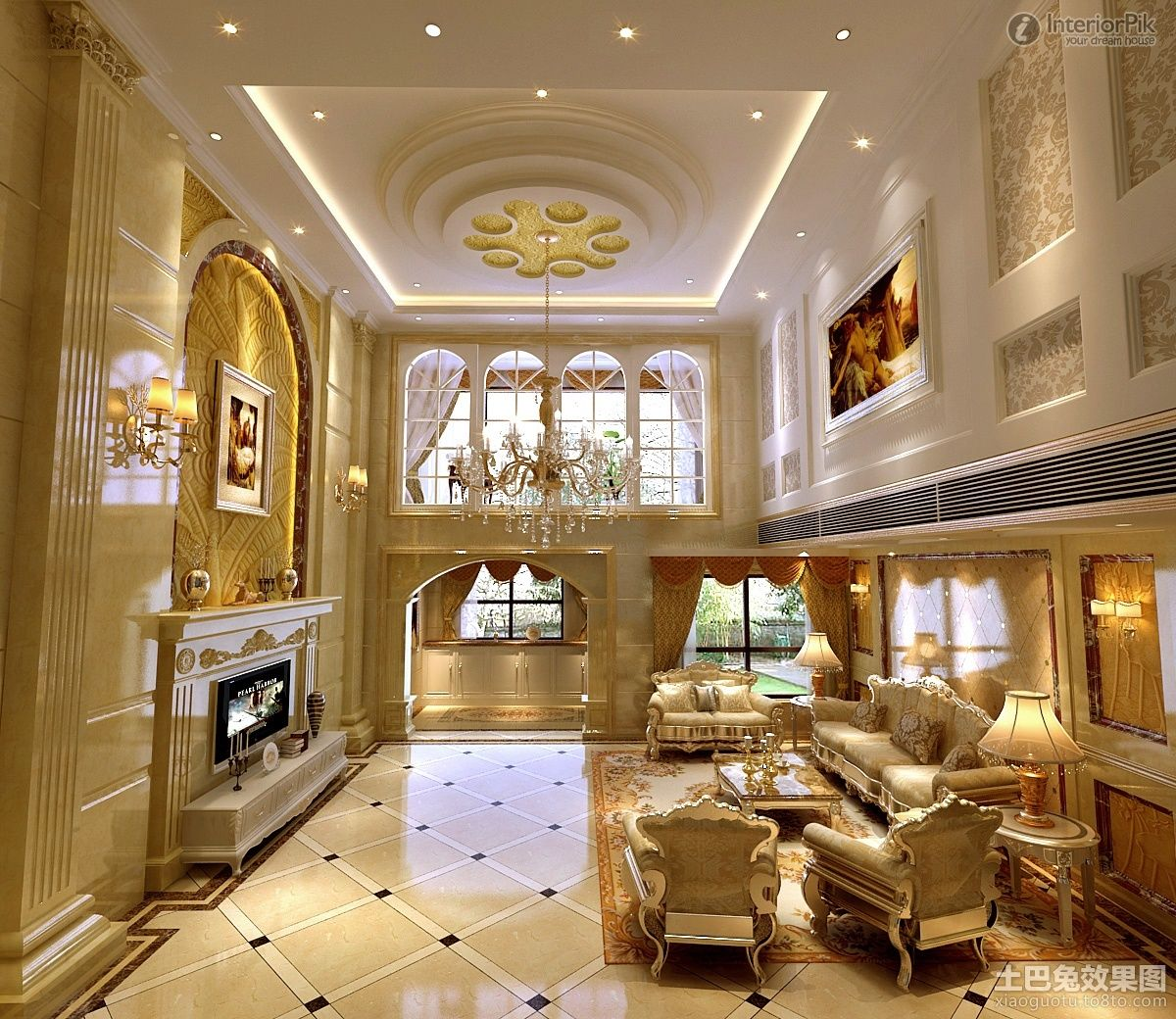 Home Design Ideas Classy: Prepossessing Luxury Modern Home False Ceiling Decorating