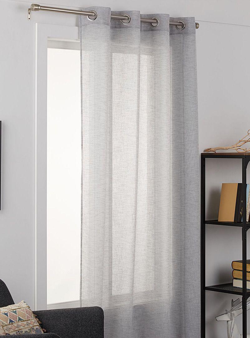 Minimalist Heather Sheer Curtain 2 Sizes Available In 2020 Zavesy