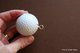 Full of Great Ideas: Golfer's Snowman Ornament
