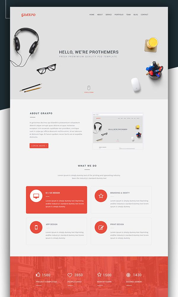 free one page template download