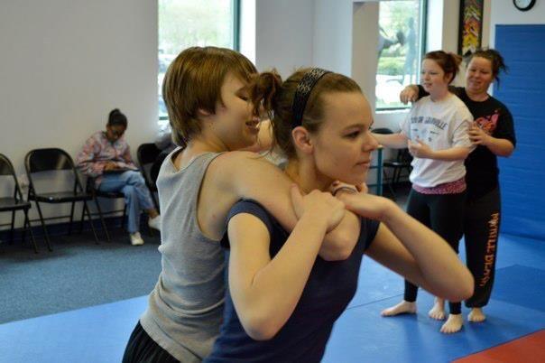 Becks Womens Demo Team Performance Self-Defense - YouTube