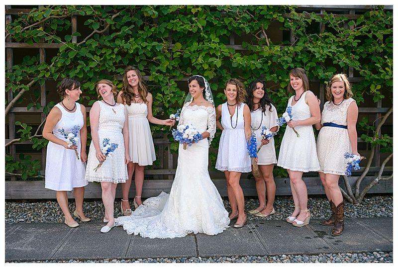 white and khaki wedding attire // Photographer: Crozier Photography