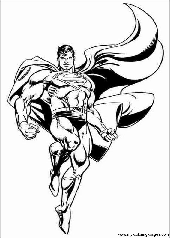 free superman man of steel coloring pages