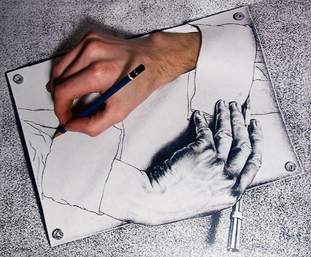 Drawing Hands, Escher Style