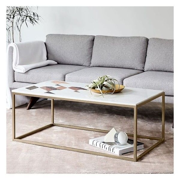 Magnificent West Elm Indian Marble Coffee Table Marble Antique Brass Caraccident5 Cool Chair Designs And Ideas Caraccident5Info