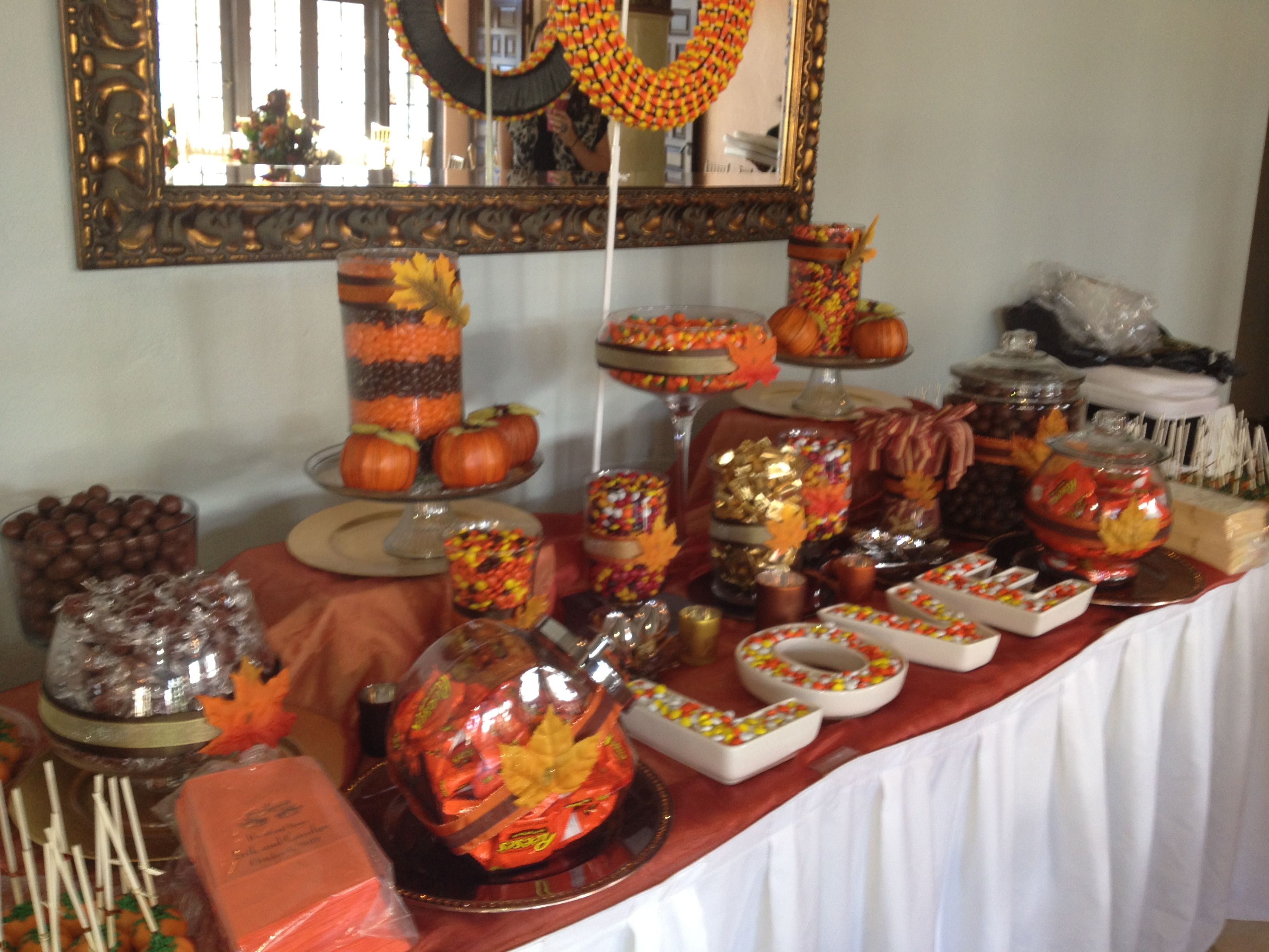 Fall Wedding Candy Buffet Ideas: The Candy Buffet That I Made For My Sister-in-law's Fall