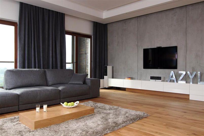 Betonowa Sciana W Salonie Salon Styl Nowoczesny Aranzacja I Wystroj Wnetrz Living Room Grey White Living Room Decor Gray Living Room Design