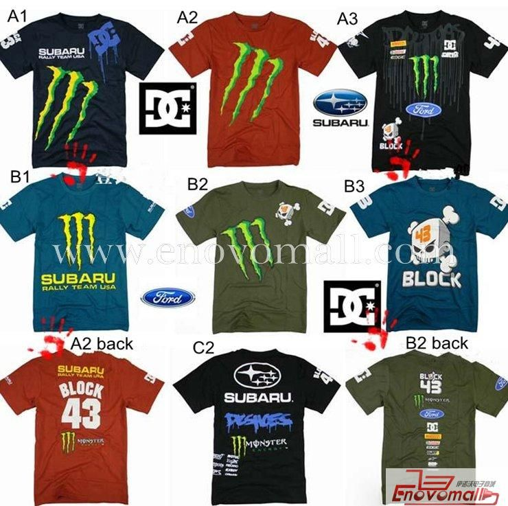 New DC Subaru Ford Ken Block 43 Rally Team T-shirt Tee-shirts_Sports Wear_Apparel&Accessories_Wholesale - Buy China Electronics Headphones Speakers Wholesale Products from enovobiz.com
