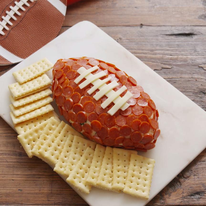 Pepperoni Football #tailgatefood
