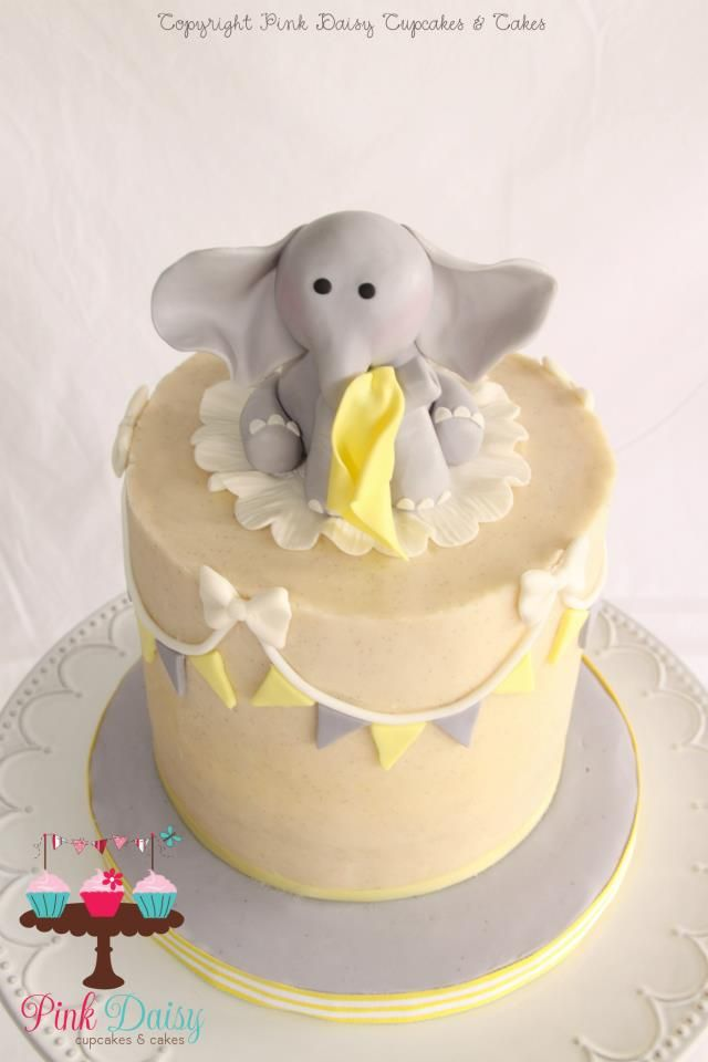 Elephant cake. This would be cute for a baby shower!