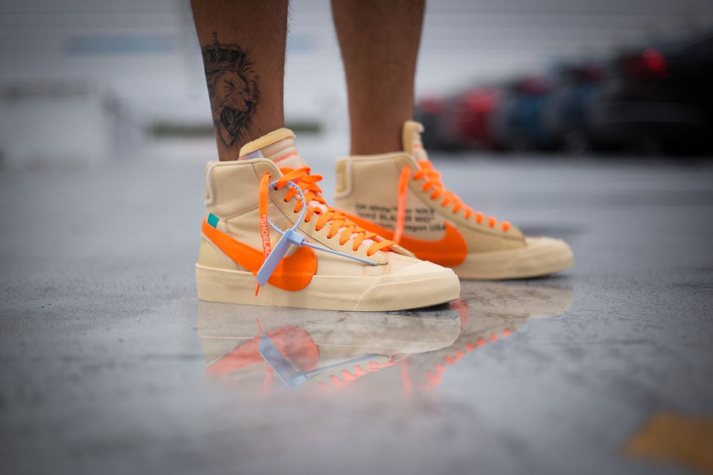 An On-Foot Look at the Off-White™ x Nike Blazer