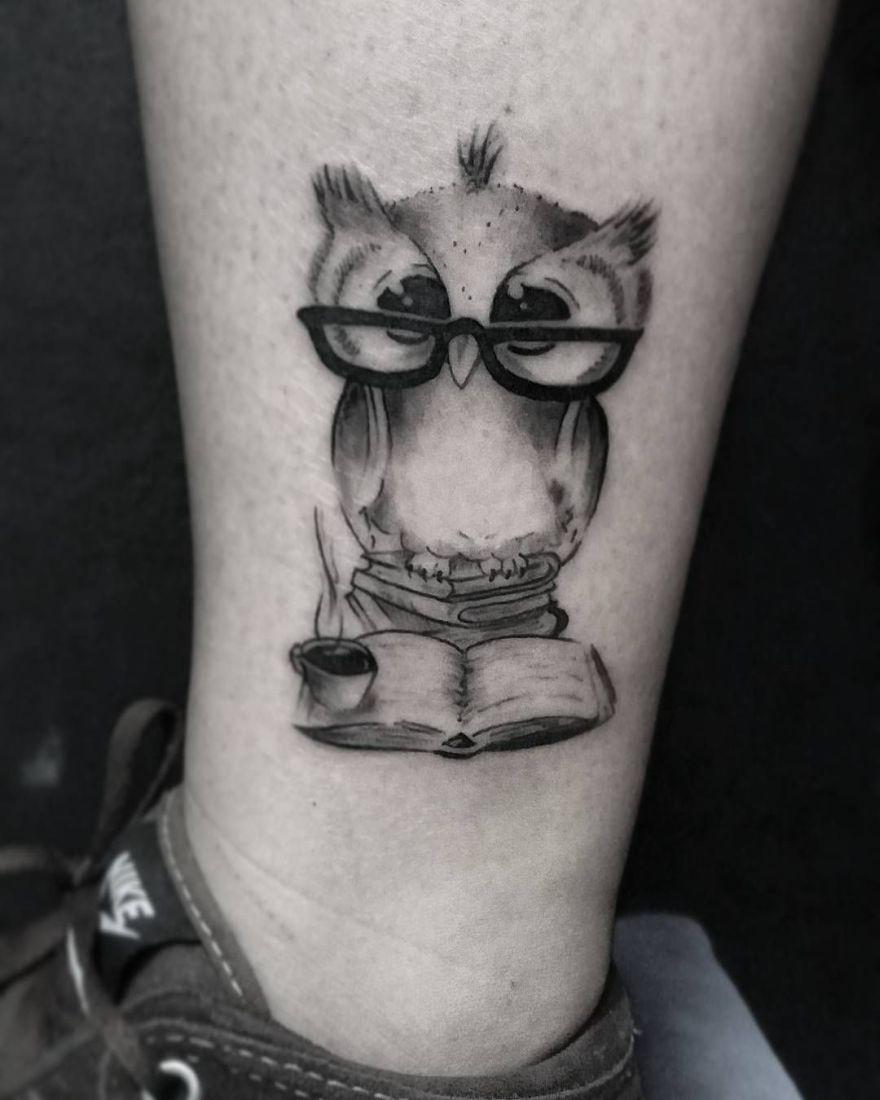 Book Tattoo Ideasx Beautytatoos Book Tattoo Cute Owl Tattoo Bookish Tattoos
