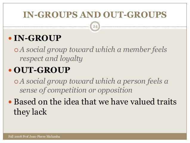out group sociology