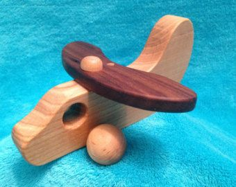 Wooden Toy Airplane Toddlers 100% Wood / All Natural Wood Finish / Eco Friendly - Edit Listing - Etsy