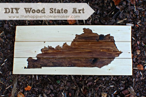 DIY Wooden State Wall Art from The Happier Homemaker