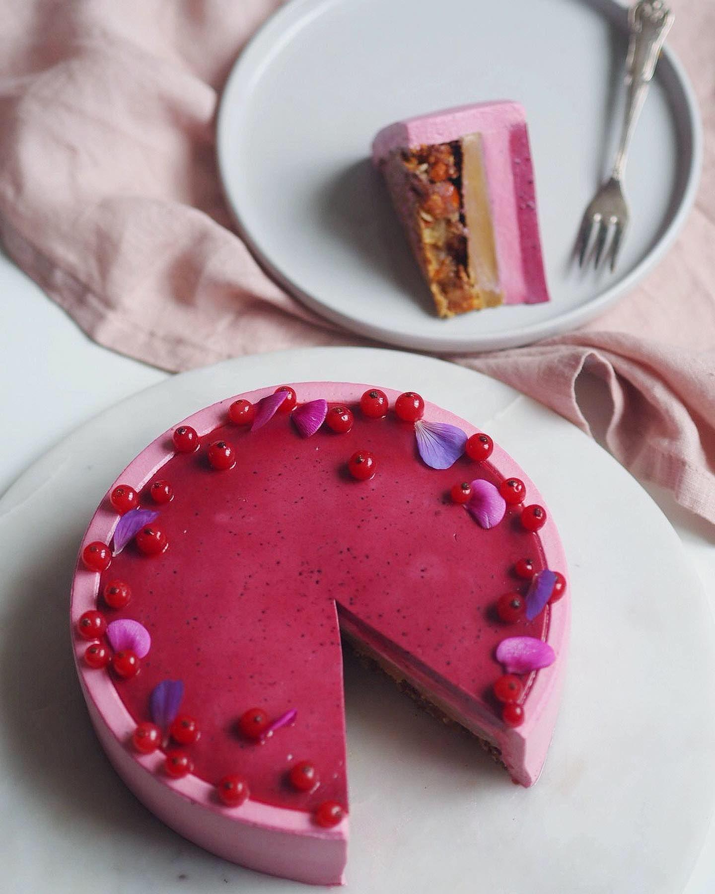 Moussekage med blåbær, citron og mandler Lækre kager