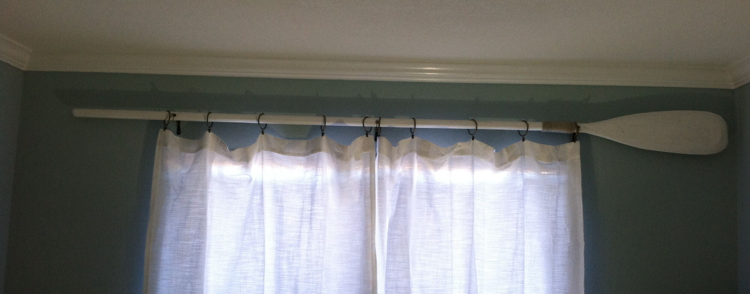 Oar Curtain Rod Handmade By The Hubby Curtains Curtain Rods