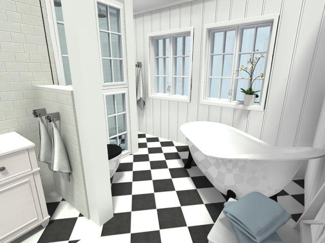 badezimmer-ideen-3d-Wohnraumplaner-realistisch-RoomSketcher Grau - badezimmer online planen