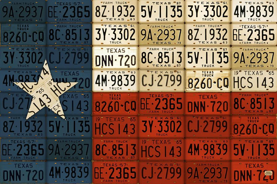 Texas Flag The Lone Star State License Plate Art By Design Turnpike License Plate Art Plate Art License Plate