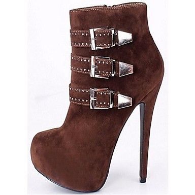 Women's Shoes Fleece Stiletto Heel Bootie Boots Office & Career / Party &  Evening / Dress