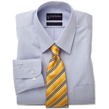 Stafford 174 Travel Performance Pinpoint Oxford Dress Shirt