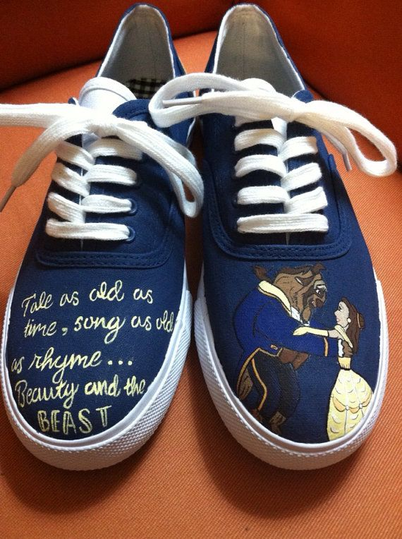 b68dee2b72 Beauty and the Beast Inspired Shoes by HandPainted29 on Etsy  I need these!!