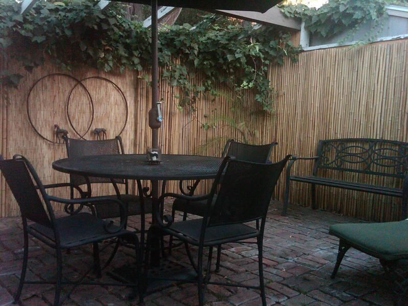 Nice Patio Makeover. Bamboo FencingWood ...