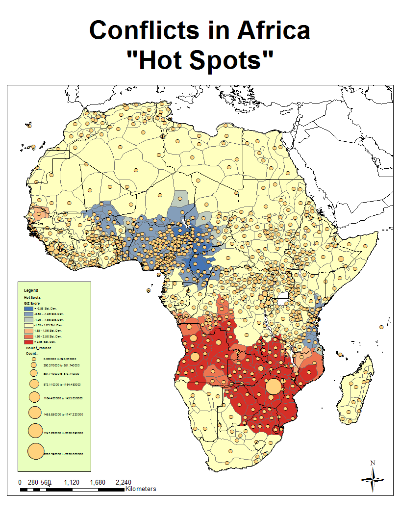 Conflicts in africa hot spots kr africapsmix african conflict and the murdock map of ethnic boundaries gumiabroncs Image collections