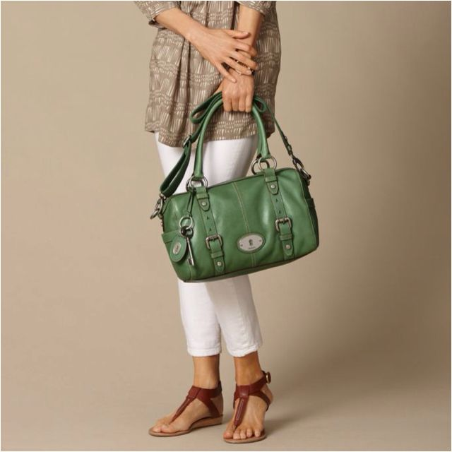 f57f2182f9ad Same fossil purse ( Maddox satchel) just different shade of green ...
