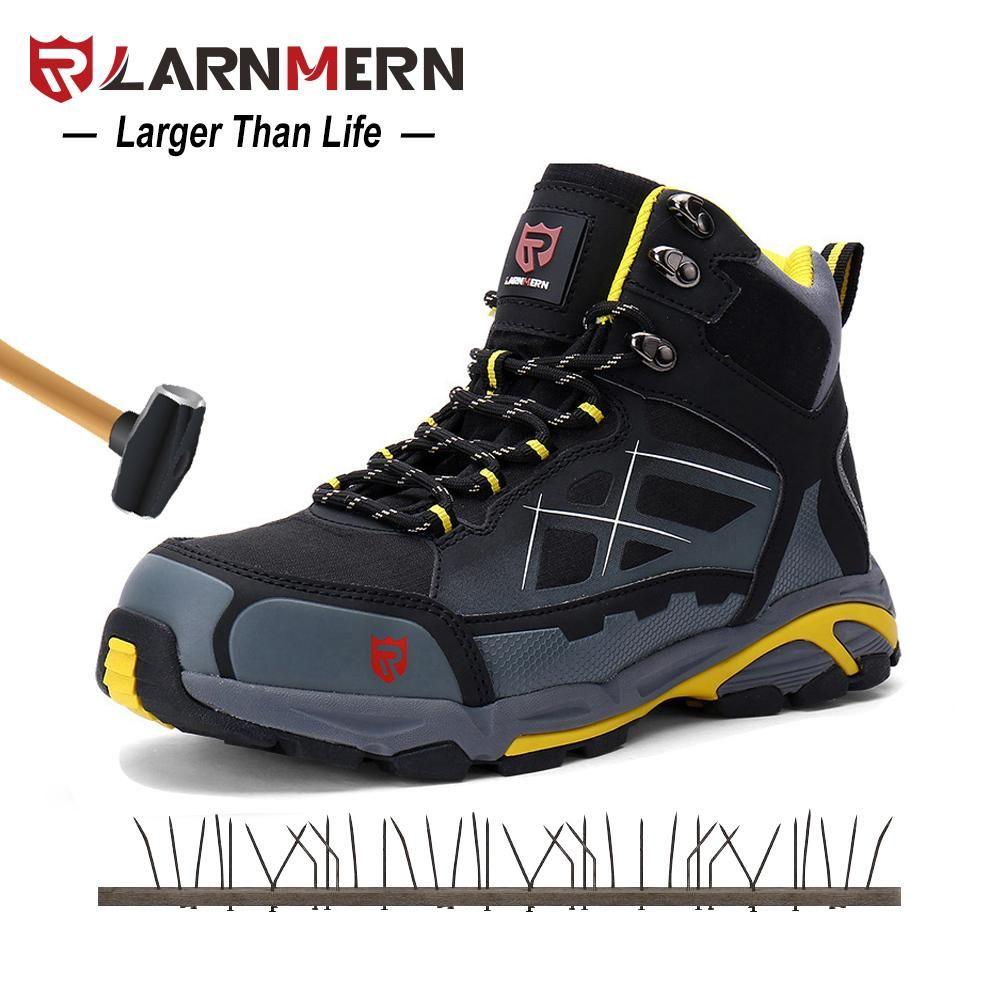 LARNMERN Mens Work Boots Steel Toe