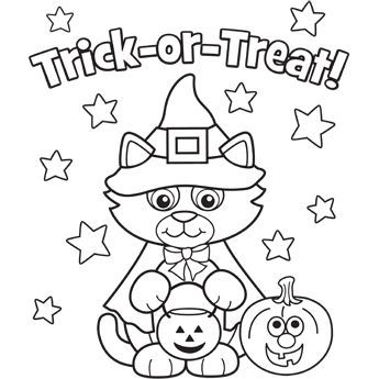 Cat Halloween Costum Kitty Coloring Pages Printable And Book To Print For Free Find