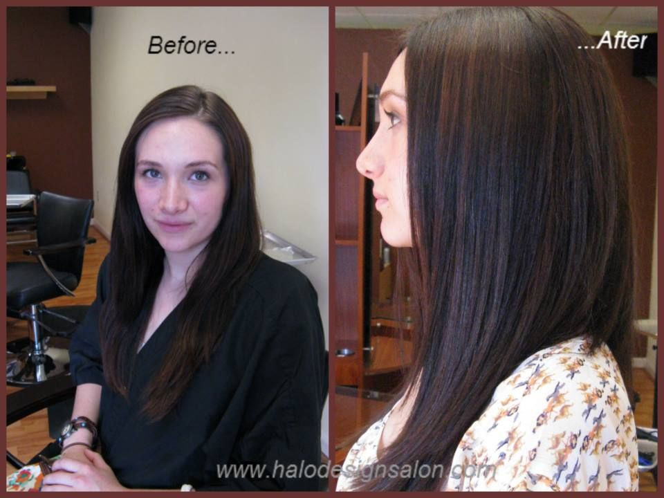Gloss!!! Great way to brighten up virgin hair! Gloss and cut by Amber Hall. Halo Designs Salon.