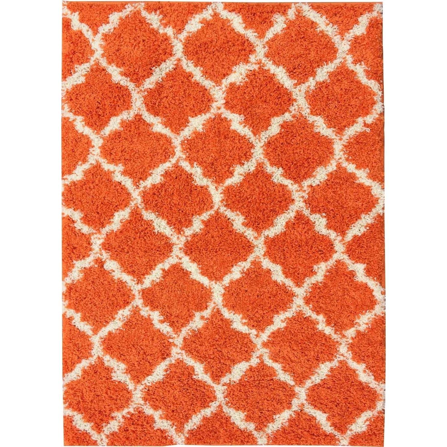 Orange Shag Area Rug Rugs Ideas