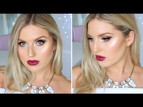 Todays makeup look includes deep berry lips, mega-dewy highlighted skin and frosty eyeshadow! I hope you love it as much as I do :) xo - BIG UNBOXING HAUL ht...