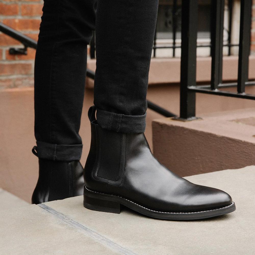 Duke Black Chelsea Boots Men Black Chelsea Boots Outfit Leather Chelsea Boots