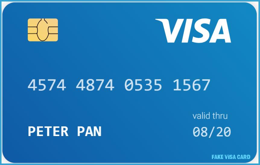 Is Fake Visa Card The Most Trending Thing Now? fake visa