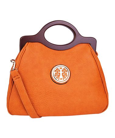 Another great find on #zulily! Cognac Brown Charles Crossbody Bag by MKF Collection #zulilyfinds