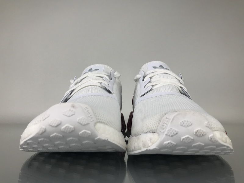 "faca2ecdfe6cc Adidas NMD R1 Mesh ""White Red"" BV1608 Men Women Ladies Girls Real Boost for  Sale3"