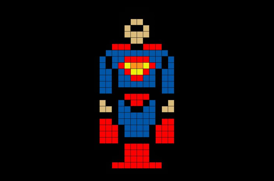 Superman 1 Pixel Art Pixel Art Minecraft Art Art
