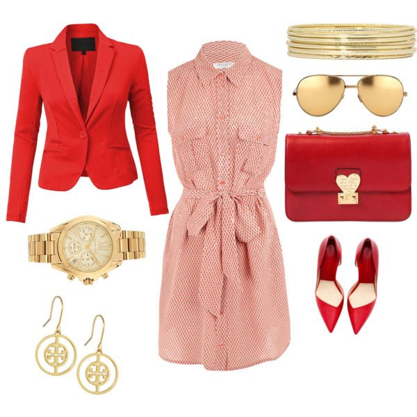 Red is for real woman ! by artsy1119 on Polyvore featuring polyvore, fashion, style, Equipment, Valentino, Michael Kors, Tory Burch, Liz Claiborne and Linda Farrow